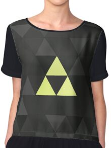 Triforced (The Legend Of Zelda Triforce) Chiffon Top