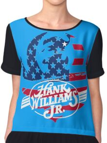 great hank williams Jr country music Chiffon Top