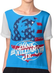 great hank williams Jr country music Chiffon Top