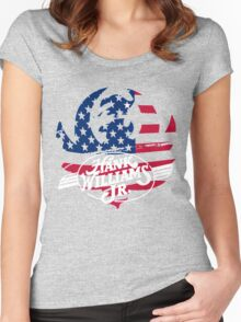 great hank williams Jr country music Women's Fitted Scoop T-Shirt