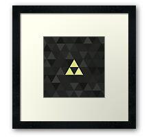 Triforced (The Legend Of Zelda Triforce) Framed Print