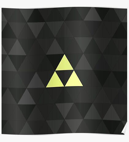 Triforced (The Legend Of Zelda Triforce) Poster