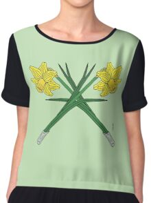 Daffodils Crossed Chiffon Top