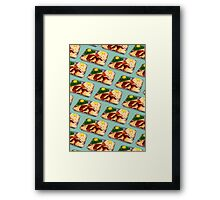TV Dinner Pattern Framed Print