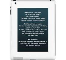 Steve Jobs Quote iPad Case/Skin