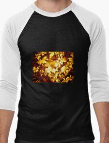 Autumn colours, simple flowers Men's Baseball ¾ T-Shirt