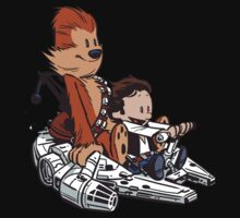 Chewie Han Calvin and Hobbes Kids Tee