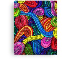 Psychedelic Lines Canvas Print