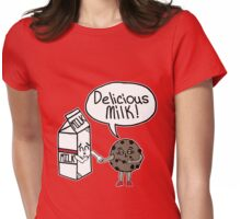 Delicious Milk Womens Fitted T-Shirt