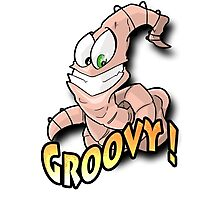 Groovy Worm  Photographic Print
