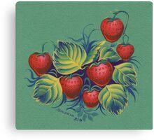 Strawberry glade Canvas Print