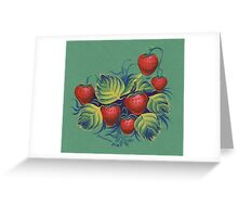 Strawberry glade Greeting Card