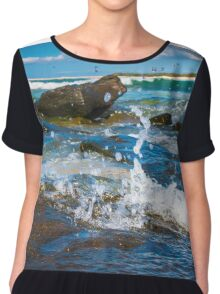 Making a Splash at Caloundra Chiffon Top
