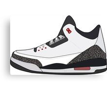Air Jordan 3 Canvas Print