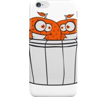 2 oranges comic cartoon face grin funny team buddies party harvest bucket pick bauer iPhone Case/Skin