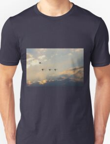 Swan Flight at Sunset Far South NSW T-Shirt
