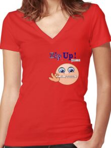 Zip Up ! (7712 Views) Women's Fitted V-Neck T-Shirt