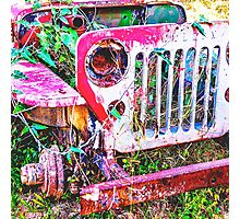 Abandoned Willys Jeep - no wording Photographic Print