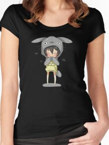 totoro cosplay Women's Fitted Scoop T-Shirt