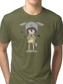 totoro cosplay Tri-blend T-Shirt