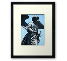 Bethesda Fountain Statue Framed Print