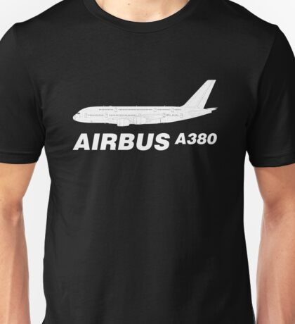 Airbus A380 Line Drawing Unisex T-Shirt