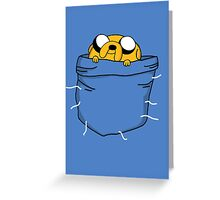 Pocket Jake (Adventure Time) Greeting Card