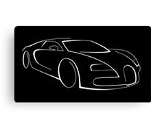 Bugatti Veyron graphic (White) Canvas Print
