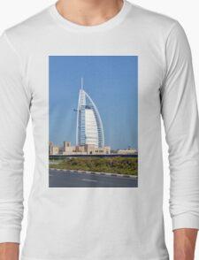 Photography of Burj al Arab hotel from Dubai, United Arab Emirates. Long Sleeve T-Shirt