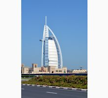 Photography of Burj al Arab hotel from Dubai, United Arab Emirates. Unisex T-Shirt