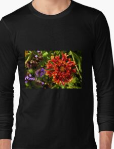 Beautiful colorful red flower in the garden. Long Sleeve T-Shirt