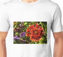 Beautiful colorful red flower in the garden. Unisex T-Shirt