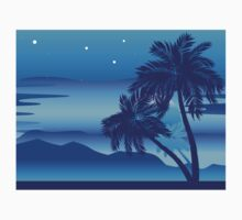 Palm Tree at Night Kids Tee