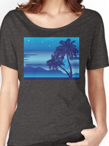 Palm Tree at Night Women's Relaxed Fit T-Shirt
