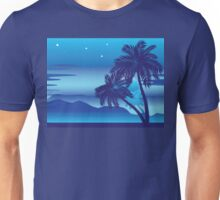 Palm Tree at Night Unisex T-Shirt