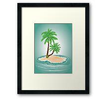 Palm Tree on Island 2 Framed Print