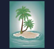 Palm Tree on Island 2 Kids Tee