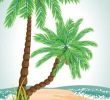 Palm Tree on Island 2 Sticker
