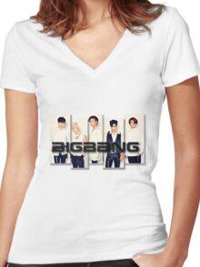 BigBang - 2 Women's Fitted V-Neck T-Shirt