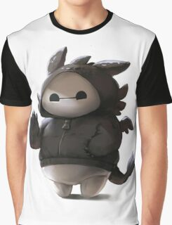 Baymax Like as Toothless Graphic T-Shirt