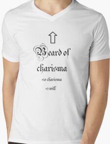 Beard of Charisma Mens V-Neck T-Shirt