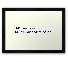 Typology-365 new days Framed Print