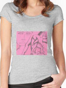 dark side of light Women's Fitted Scoop T-Shirt