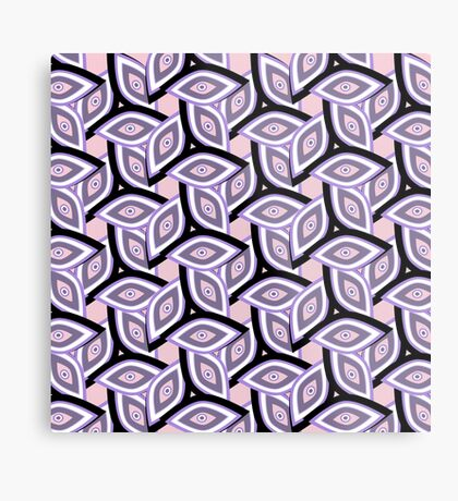 Abstract eyes and patterns Metal Print