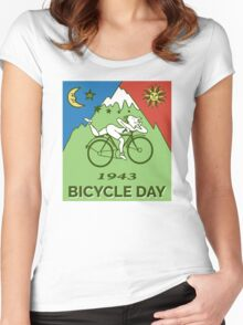 LSD - Bicycle Day 1943 Vintage T-Shirts Women's Fitted Scoop T-Shirt
