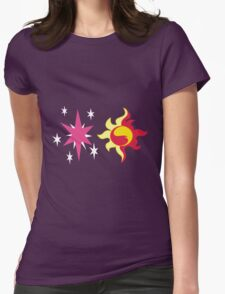 My little Pony - Sunset Shimmer + Twilight Sparkle Cutie Mark Womens Fitted T-Shirt