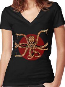 Kraken Women's Fitted V-Neck T-Shirt