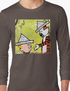 calvin hobbes news papper Long Sleeve T-Shirt