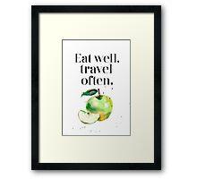 Green apple - eat well! Framed Print