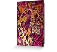 Thai Patterns an acrylic painting Greeting Card